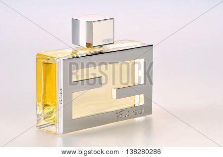 KIEV UKRAINE - July 31 2012. Illustrative editorial photo - eau de parfum (perfume) Fan di Fendi