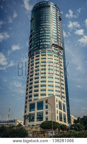 Tel Aviv Israel - October 18 2015. Edgar 360 Tower also called Galit Tower in Tel Aviv