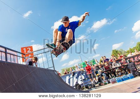 Athletes Compete At Skateboard Challenge