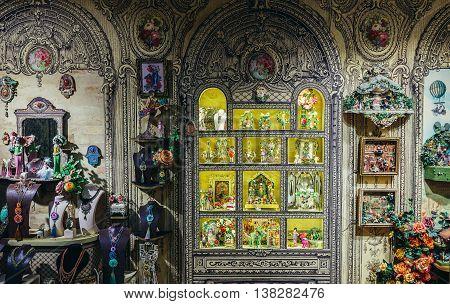Bat Yam Israel - October 20 2015. Interior of Michal Negrin showroom located in Bat Yam near Tel Aviv
