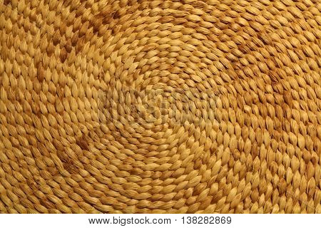 woven bast background circular - texture brown