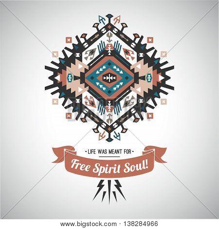 Decorative bright element on native ethnic style