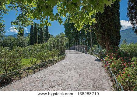 Pedestrian Walkway In The Park, Riva Del Garda, Italy