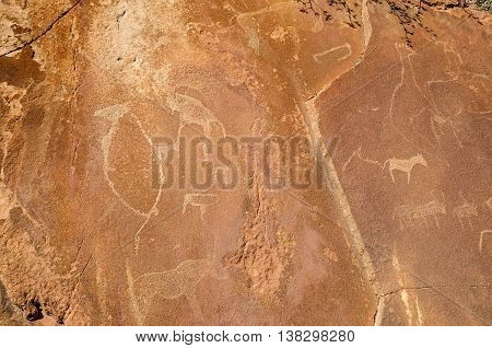Rock carvings in Twyfelfontein approved as Namibia's first UNESCO World Heritage Site in the Kunene Region of north-western Namibia.