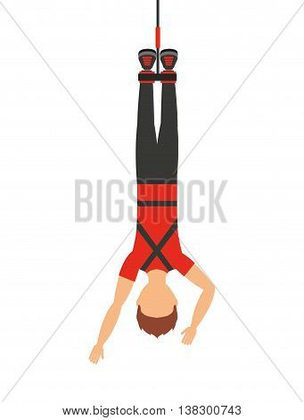 bungy jumping isolated icon design, vector illustration  graphic