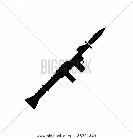 Grenade launcher icon. Flat design vector illustration