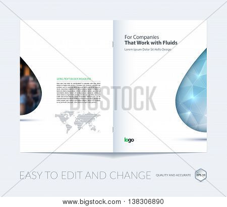 Water Droplet Template Drop And Leaf Line Logo Template Water