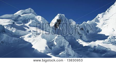Snow mountain in the Cordilleras