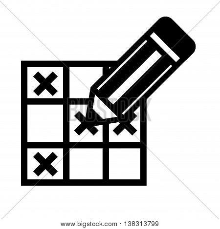 bingo card isolated icon design, vector illustration  graphic