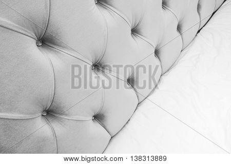Luxury Empty Bedroom Interior Fragment