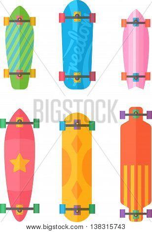 Flat Longboards Colorful Set