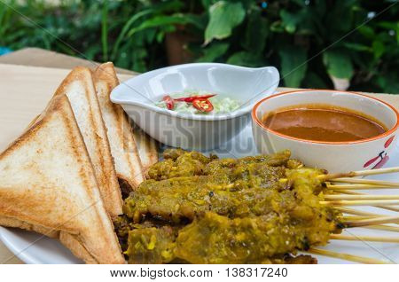 Baked Stringed Meat, Bread