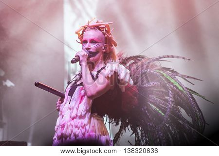 Rimetea (Torocko), Romania - July , 2016: The Anna& The Barbies hungarian band performing at the Doublerise festival, the first multi art festival from Transylvania on July 1, 2016