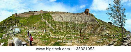 The Amphitheatre of Pergamon Ancient City Panoramic