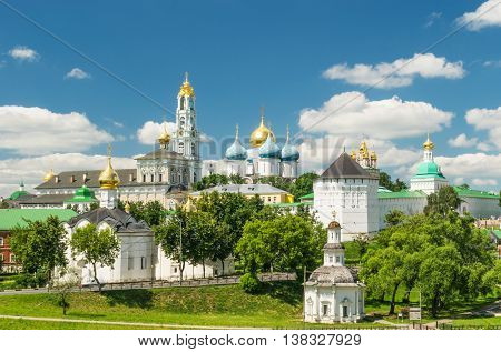 View of the Trinity Lavra of St. Sergius - Monastery in the town of Sergiyev Posad, Russia