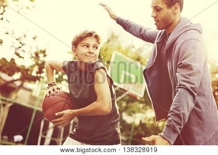 Basketball Athlete Sport Exercise Skill Practice Concept