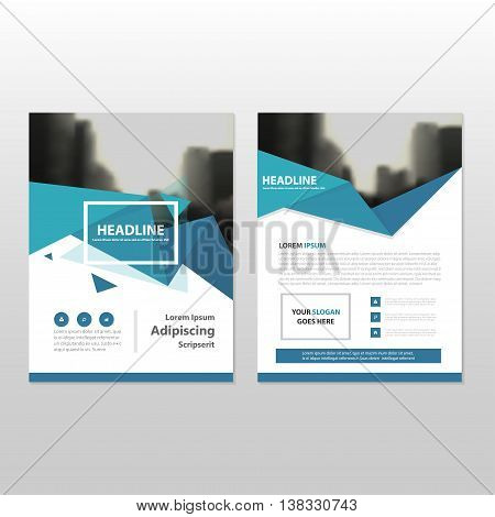 Blue triangle triangle annual report Leaflet Brochure Flyer template design book cover layout design abstract business presentation template a4 size design