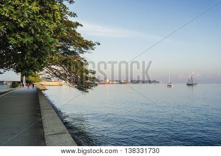 central dili city seaside promenade in east timor