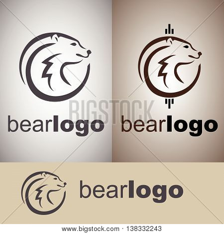 bear logo concept designed in a simple way so it can be use for multiple proposes like logo ,marks ,symbols or icons.