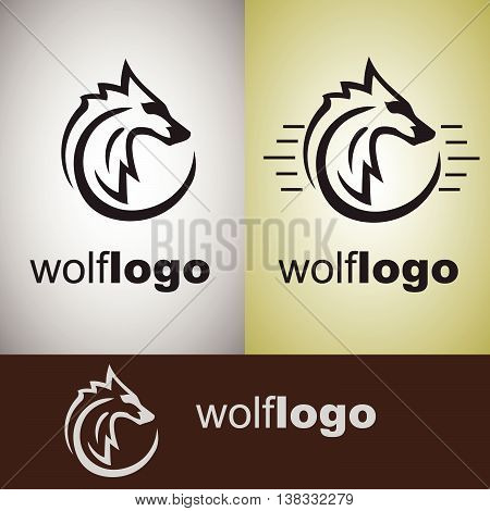 wolf logo concept designed in a simple way so it can be use for multiple proposes like logo ,marks ,symbols or icons.