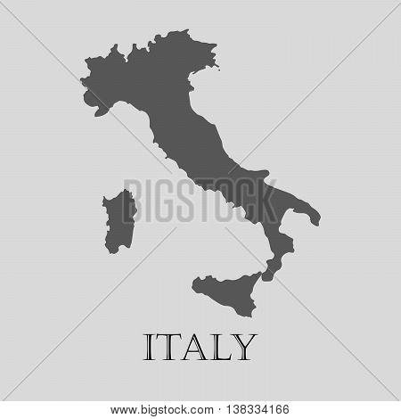 Gray Italy map on light grey background. Gray Italy map - vector illustration.