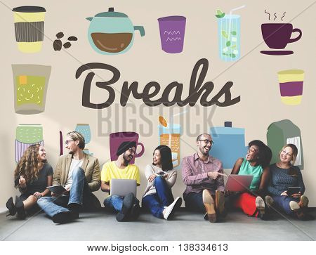 Breaks Pause Relaxation Rest Stop Cessation Concept