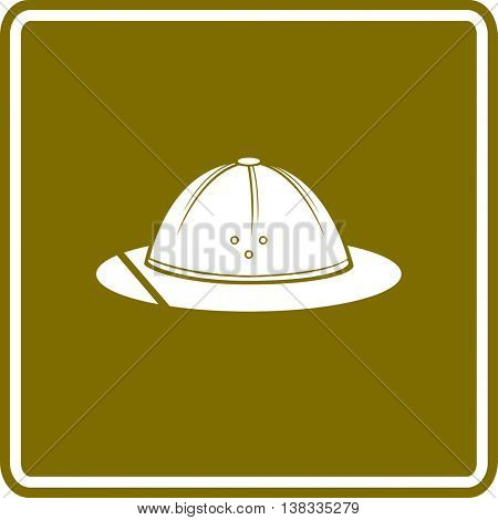 safari hat or pith helmet sign