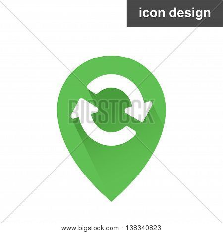 Vector clipart icon waypoint or location is updated