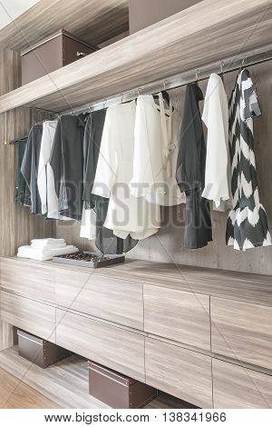Black And White Color Tone Clothes Hanging