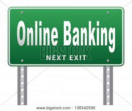 online internet banking money deposit account  3D illustration, isolated, on white