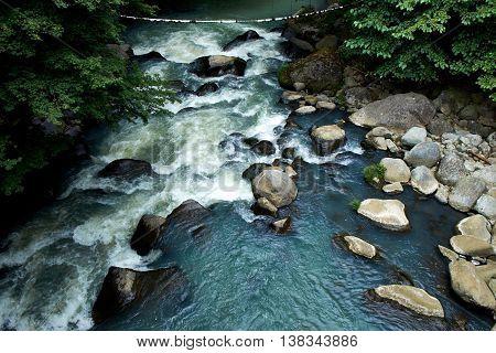 Hayakawa River, Tonosawa, Hakone, Japan Kansuiro Ryokan and Onsen