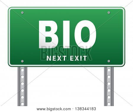 Bio button or biography leading to the story of your life about sign my life story 3D illustration, isolated, on white
