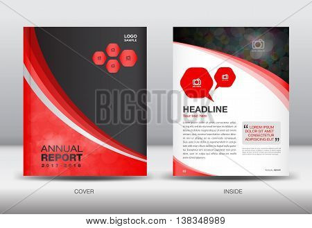 Red and black Annual report template cover design brochure flyer booklet portfolio Leaflet presentation book catalogs newsletter butterfly magazine ads poster