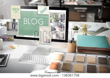Blog Blogging Ideas Icons Graphic Concept