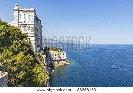 Building Of Oceanographic Museum In Monaco