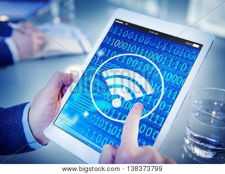 Wifi Wireless Signal Network Connection Technology Concept