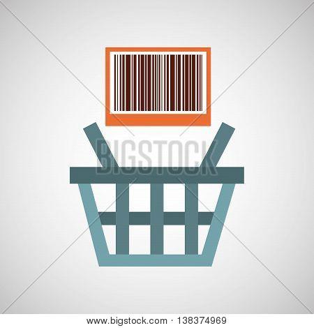 basket buy commerce buy business isolated, vector illustration eps10