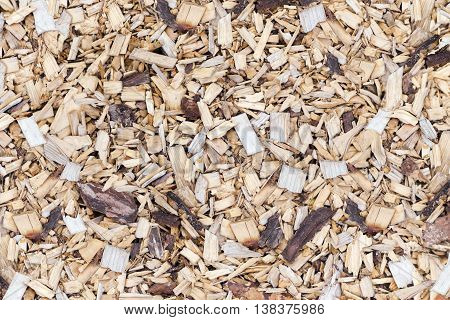 Woodchip for smoking or recycle. For background
