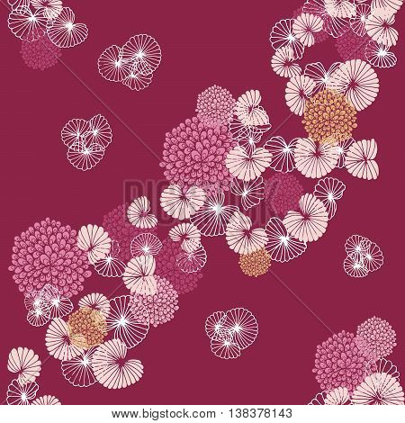 Cockles and Mussels on Pink Seamless Pattern