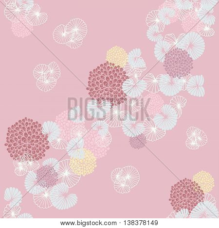 Cockles and Mussels on Light Pink Seamless Pattern