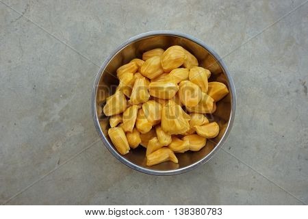 close up jackfruit ready to eat for food background used