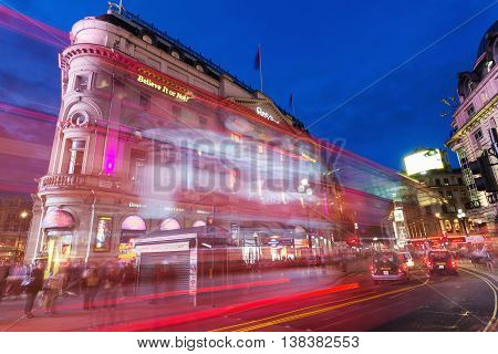 Piccadilly Circus In London At Night