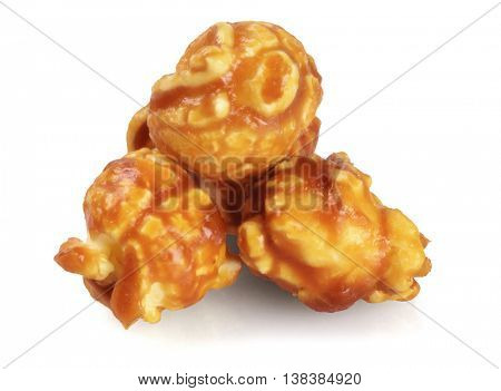 Chocolate Pop Corns on White Background