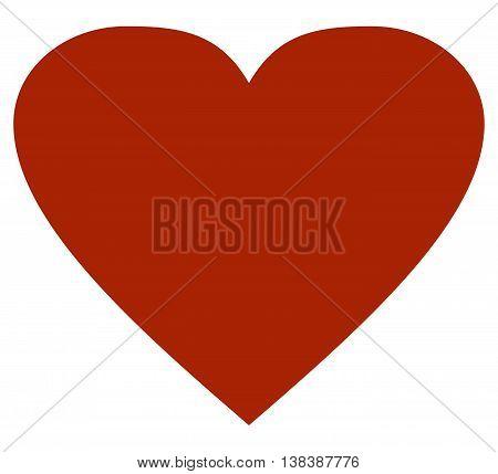 Heart icon illustration love sparse flat valentine's day