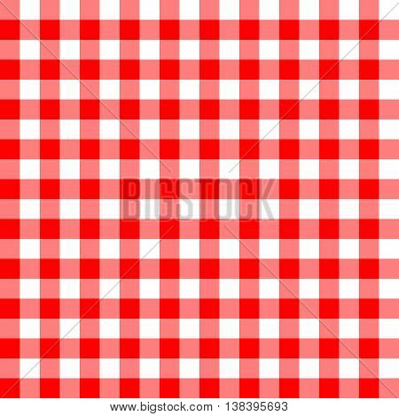 Seamless red and white tablecloth pattern. Vector illustration