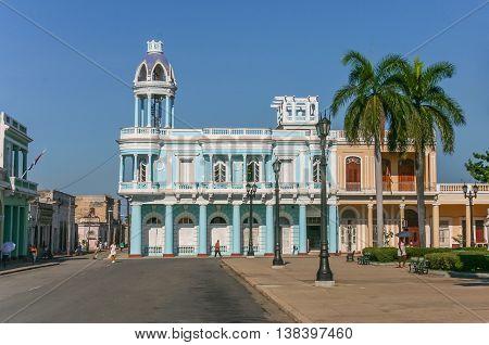 CIENFUEGOS, CUBA - SEPTEMBER 28, 2007: Palacio Ferrer in the historical center of Cienfuegos, Cuba