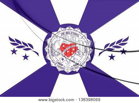 Flag Of Belford Roxo (rio De Janeiro State), Brazil. 3D Illustration.