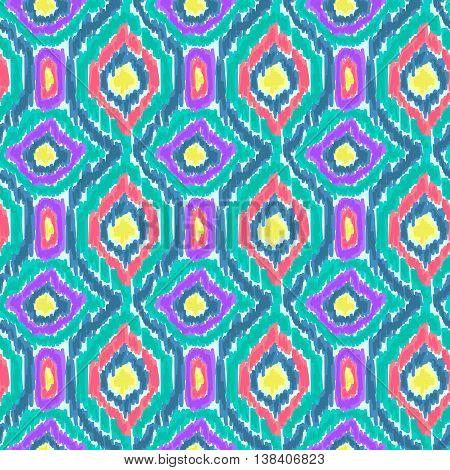 Boho Tie Dye Shibori Pattern Watercolor Effect Green