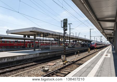 NURNBERG BAVARIA / GERMANY - JULY 18th 2014: photo of Nurnberg train station in Germany