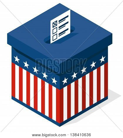 box for a vote. presidential elections in the United States. vector
